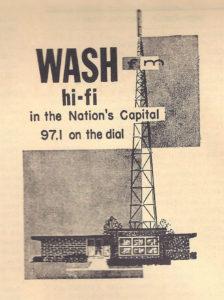 WASH Radio Station Hi-Fi Advertisement - 1958